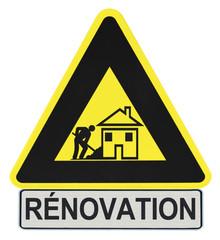panneau travaux de rénovation
