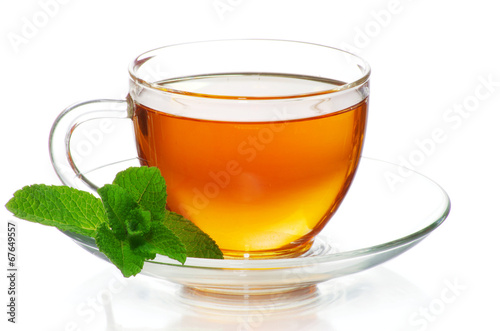 Fotobehang Thee tea in cup