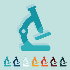 Flat design: microscope