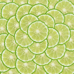 Kaffir lime slice background