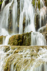 Waterfall in Slovakia detail