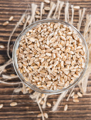 Portion of Wheat Grains