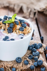Fresh made Blueberry Yogurt