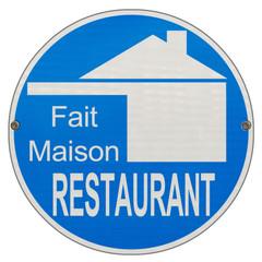 """label restaurant """"fait maison"""" sur plaque enseigne"""
