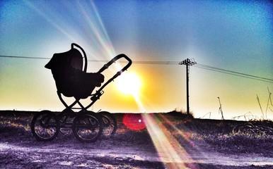 Baby stroller silhoutte