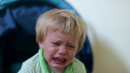 Crying two year old child