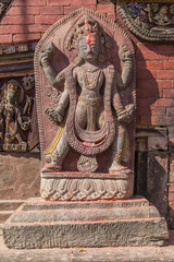 A statue in Changu Narayan - the oldest temple of the Kathmandu