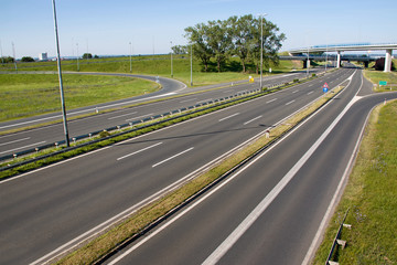 Highway near capital Zagreb in Croatia