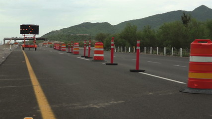 Detour Sign Construction Pylons Long