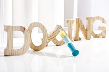 Doping symbolisierene Buchstaben