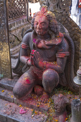 A statue in Changu Narayan