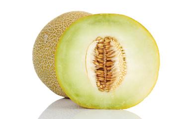 Zuckermelonen, Ganz und Halb geschnitten