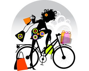 Shopping colours bike