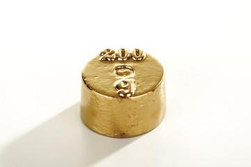 Goldenes 200 Gramm Gewicht