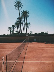 tropical tennis court