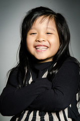 Portrait of little happy asian cute Girl