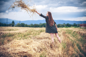 rural girl in field