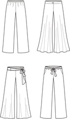 Vector illustration of women's summer pants