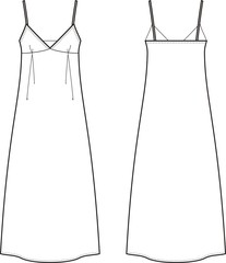 Vector illustration of women's dress