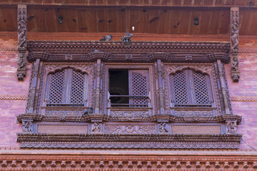 traditional window of a house in Bhaktapur