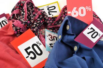 Les vêtements soldés