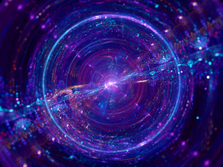 Colorful wormhole