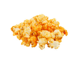 Cheese popcorn on white background