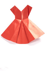 Red Origami Dress on White