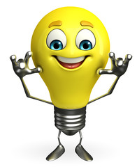 Light Bulb Character with teasing pose