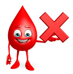 Blood Drop Character with cross sign