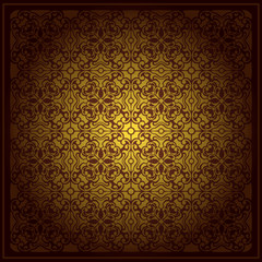 Abstract brown background baroque vector