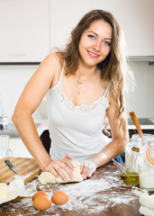 woman preparing dough
