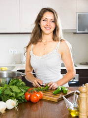 woman in home kitchen