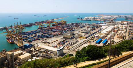 Port of Barcelona -  logistics port area