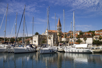 Marina in Milna, village on west side of island Brac in Croatia