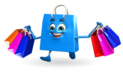 Shopping bag character