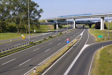 Highway in capital Zagreb in Croatia