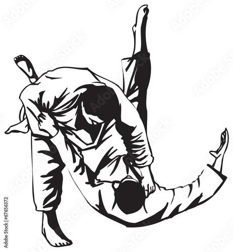 Fototapeta Judo fight