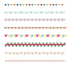 vector colorful borders set