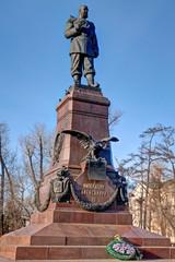 Monument to Emperor Alexander III in Irkutsk. Russia