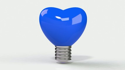 Heart bulb 3d full hd video