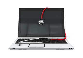 Laptop with Stethoscope