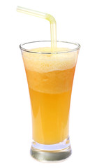 Pineapple juice in a glass
