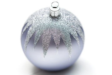 Glittery Christmas ornament ball