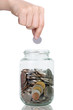 Filling up coins to glass for investment