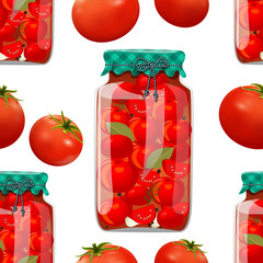 seamless texture with preserve tomato