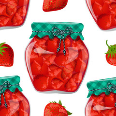 seamless texture with preserve strawberry