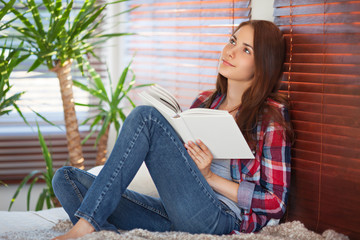 Young woman reading
