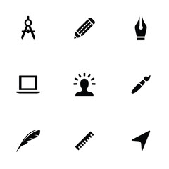 design 9 icons set