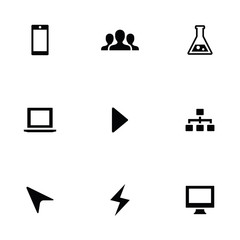 development 9 icons set
